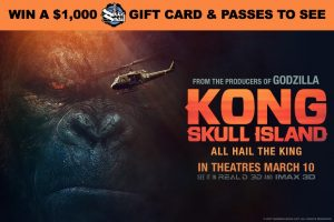 Exclaim Media – Kong: Skull Island – Win a $1,000 gift card for Silver Snail OR 1 of 19 double passes to see the film