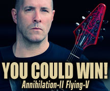 "Gibson Brands – Win an Epiphone Ltd. Ed. Jeff Waters ""Annihilation-II™"" Flying V Outfit"