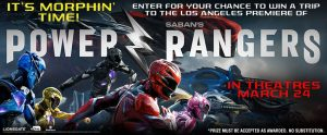 Landmark Cinemas Canada – Power Rangers – Win a trip to the Los Angeles Premiere of Power Rangers OR 1 of 15 minor prizes