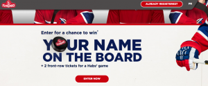 Olymel L.P – Your Name on the Boards – Win a prize package valued at $2,500