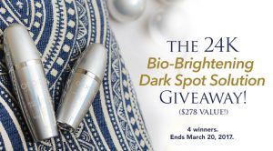 Orogold – Win 1 of 4 The 24K Bio-Brightening Dark Spot Solution prizes