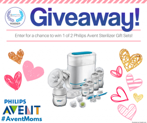 Philips Avent #AventMoms – Win 1 of 2 Philips Avent Sterilizer gift sets