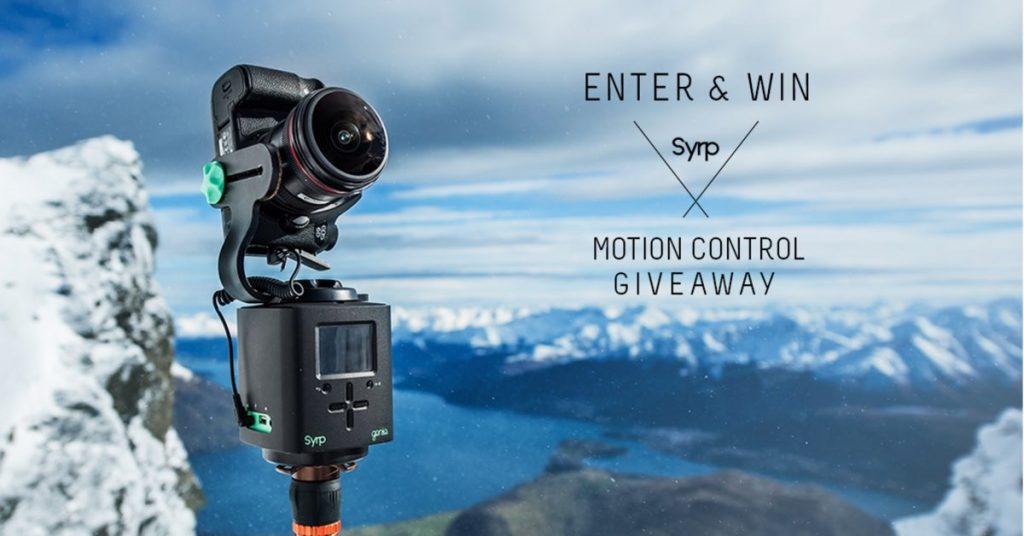Syrp's and CanonRumors – Win 1 of 3 Syrp Motion Contro