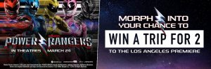 Tek Savvy – Power Rangers Premiere – Win a trip for 2 to Los Angeles OR 1 of 90 passes to the screening of the film