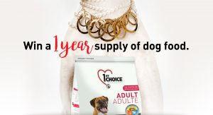 1st Choice Canada – Win 1 of 3 prizes of one Year of Dog Food valued at $600 each