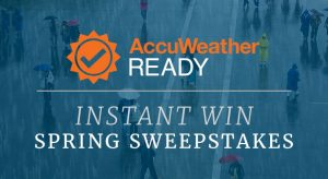 AccuWeather – Ready Spring – Win a grand prize valued at $1,125 OR 1 of 25 Instant win prizes