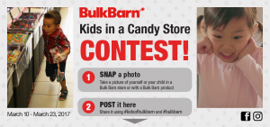 Bulk Barn Foods – Kids in a Candy Store – Win 1 of 2 Bulk Barn Gift Cards valued at $300 CDN each