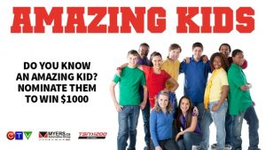 CTV – Myers Auto Group Amazing Kids – Win 1 of 10 Weekly Prizes of $1,000 CAD each