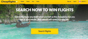 Cheapflights – Search To Win – Win flights for 2 valued up to £1500 GBP