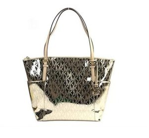 Her Daily Deal – Win a Michael Kors Jet Set Gold East West Mirror Metallic Tote Bag valued at $248