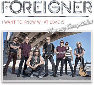 Live Nation Worldwide – The Foreigner – Win one Rock Flight includes 2 tickets to see Foreigner in Los Angeles