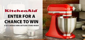 London Drugs – Win a KitchenAid Mini Artisan Stand Mixer valued at $349