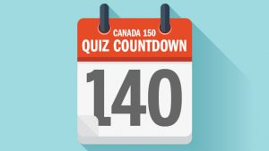 MACLEANS – The Canada150 Quiz Countdown trivia test – Day 11 – Win 1 of 150 Maclean's branded black Silicon Watches