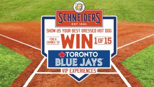 Maple LeafFoods – Blue Jays VIP – Win 1 of 15 grand prizes valued at $3,450 CDN each OR 1 of 150 secondary prizes