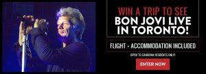 Music Vaultz – Win a trip to see Bon Jovi Live in Toronto
