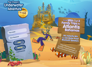 "Parmalat – Black Diamond Cheestrings Ficello ""Cheesy's Underwater Adventure"" – Win 1 of 3 Family Trips to Atlantis Bahamas valued at $7,500 CAD each OR 1 of 250 minor prizes"