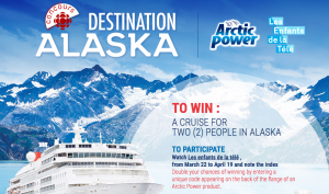Radio-Canada – Destination Alaska – Win a cruise for 2 in Alaska