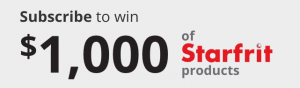 Starfrit – Easy Match – Win a Starfrit electronic gift card valued at $1,000