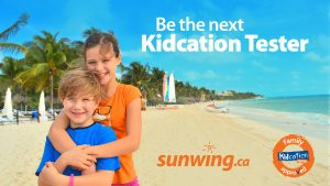 Sunwing Vacations – Become The Next Kidcation Tester – Win 1 of 4 family trips for 4 valued at $3,450 CDN each