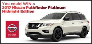Wonderlist – Vancouver Auto Show – Win a 2017 Nissan Pathfinder Platinum Midnight Edition valued at $48,478 CDN