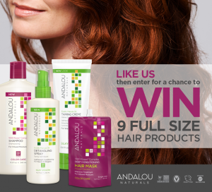 Andalou Naturals Hair Care – Win 1 of 25 prize packs