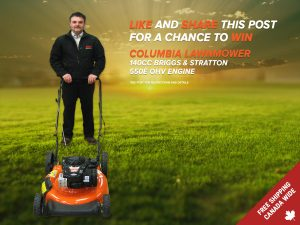 BRS Battery LTD – Win a Columbia Lawnmower