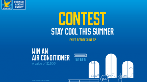 CST Canada – Stay Cool this Summer – Win an Air Conditioner valued at $2,500