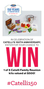 Catelli – 150th Anniversary – Win 1 of 5 Catelli Family Reunion kits valued at $500 each