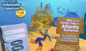 Cheestrings – Underwater Adventure – Win 1 of 3 family trips to Atlantis Bahamas OR 1 of 250 Instant Win prizes