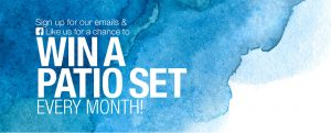 Home Outfitters – Win a Patio Set in April, May and June valued at up to $2,299