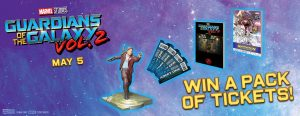 IMAX – Guardians of the Galaxy Vol. 2 – Win 1 of 5 prizes valued at over $259 each