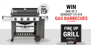 RONA – Weber – Fire up the grill – Win 1 of 2 Propane BBQ Genesis II E410 valued at $1,199 each