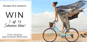 RW & CO. – Escape this Summer – Win 1 of 16 Schwinn bikes valued at $500 each