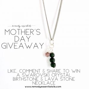 Remedy Essentials Oils – Win a Swarovski Crystal Birthstone & Lava Stone Aromatherapy Necklace