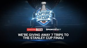 Sports Net – Capture The Cup – Win 1 of 7 trips for 2 to 2017 Stanley Cup Final Game valued at $3,000 CDN each