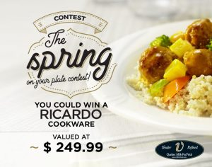 TC Media – The Spring on your plate – Win a Ricardo cookware valued at $249