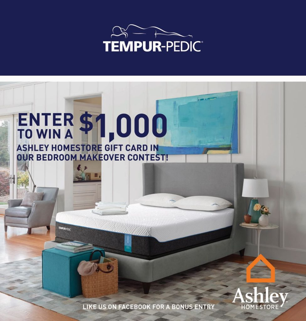 Tempur pedic canada bedroom makeover win 1 000 as for Ashley furniture homestore canada