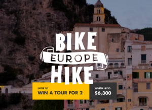 Tour Radar – Bike Europe Hike – Win a tour for 2 in Central and Eastern Europe valued at up to $6,300
