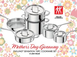 ZWILLING J.A. Henckels Canada – Mother's Day – Win a Sensation 10-piece Cookware set valued at $1,850