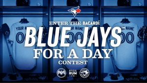 Bacardi Canada – Blue Jays for a Day – Win 1 of 10 trips for 2 to Toronto plus more valued at $7,000 CDN each