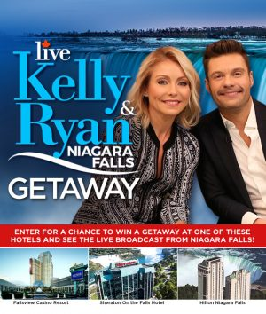 Bell Media – Live! With Kelly & Ryan – Win a trip for 2 to Niagara Fall, ON valued at $3,000 USD