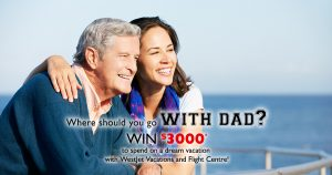 Flight Centre & WestJet Vacations – Win $3,000 to spend on a dream vacation