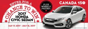 Giant Tiger Stores – Canada Day – Win a 2017 Honda Civic Sedan LX OR other weekly prizes