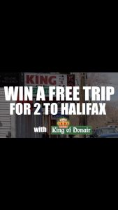King of Donair – Win a trip for 2 to Halifax, Nova Scotia