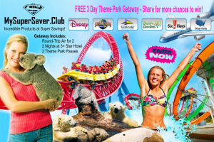 MySuperSaver.Club – Theme Park Vacation – Win a trip for 2 to a theme park of choice