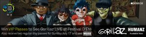 Obox Editions – Dose.ca and Gorillaz – Win a trip for 2 to Quebec City