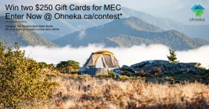 Ohneka – Spring – Win 1 of 2 MEC gift cards valued at $250 each