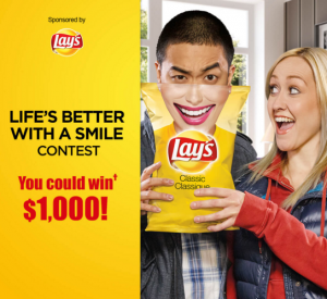 Tasty Rewards – Lay's Life's Better With a Smile – Win a $10,000 cash prize