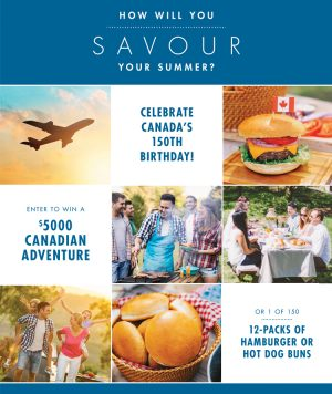 COBS Bread – Savour Your Summer – Win a grand prize of a $5,000 Travel Voucher OR 1 of 150 Weekly prizes