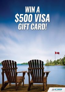 CSN Collision Centres – Celebrating Canada – Win a $500 preloaded Visa Gift Card OR 1 of 5 minor prizes